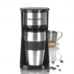 GOURMETmaxx Edelstahl Single Kaffeemaschine